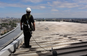 Roof edge Fabrications Fall Arrest Wire System