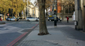 Addagrip Addastone TP tree pits in Exhibition Road, London
