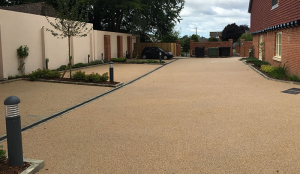 Addagrip Addaset Resin Bound porous surfacing for residential developments.